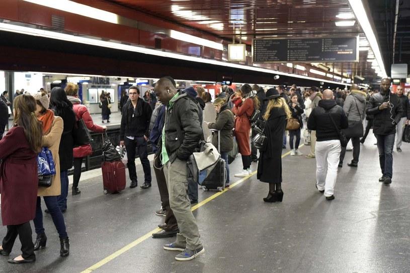 Stacja Auber w Paryżu, gdzie doszło do niecodziennego zdarzenia /AFP