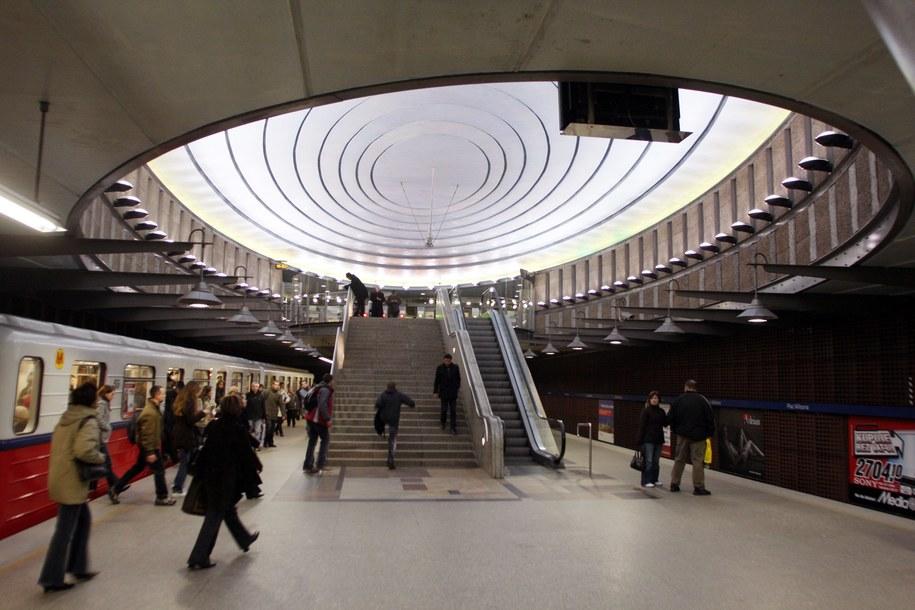 Stacja metra Plac Wilsona /Tomasz Gzell /PAP