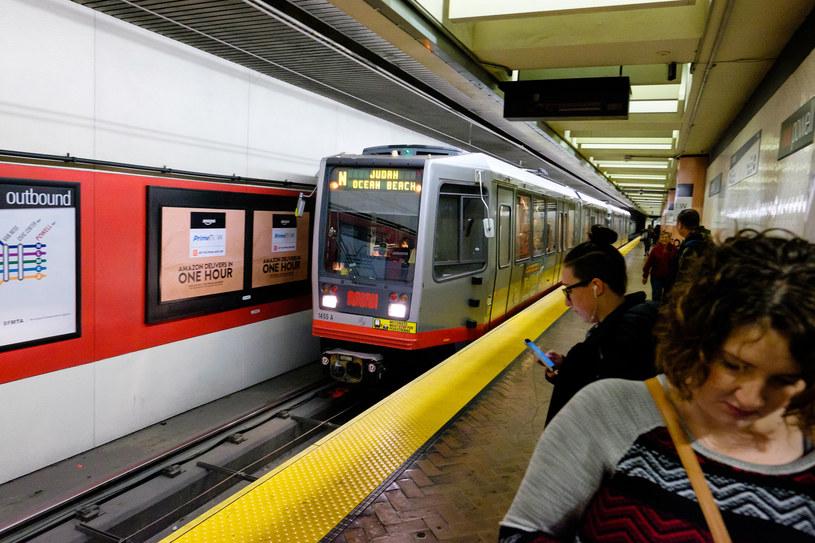 Stacja metra w San Francisco - atak utrudnił życie wielu mieszkańców tego miasta /123RF/PICSEL