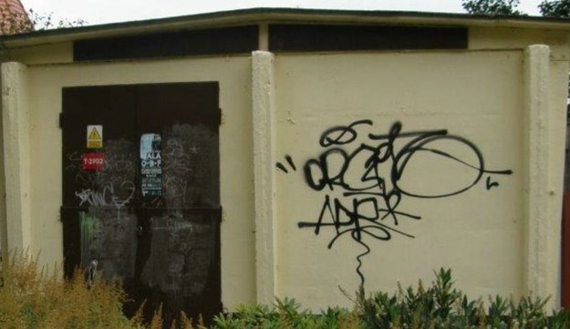 Stacja transformatorowa bez muralu /Kuba Kaługa /RMF FM