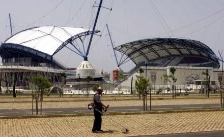 Stadion Algarve w Faro stoi teraz pusty, a koszty jego utrzymania są ogromne. /AFP