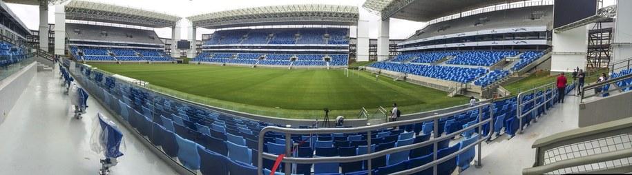 Stadion Arena Pantanal w brazylijskiej Cuiabie /Rogério Florentino Pereira /PAP/EPA