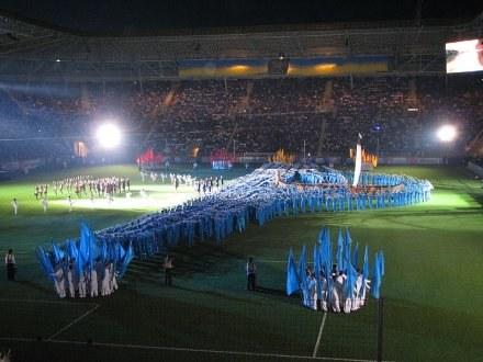 Stadion Dniepru był gotowy jako pierwszy na Ukrainie. Obiekt mieści 31 tys widzów /