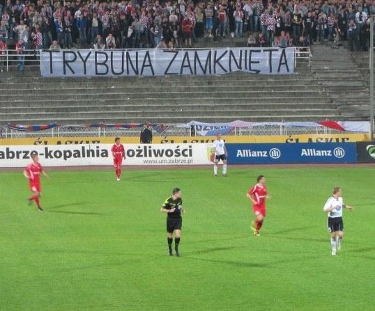 Stadion Górnika Zabrze podczas meczu z Legią Warszawa.  /fot. Piotr Glinkowski /RMF FM