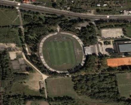 Stadion Hutnika - widok z lotu ptaka /