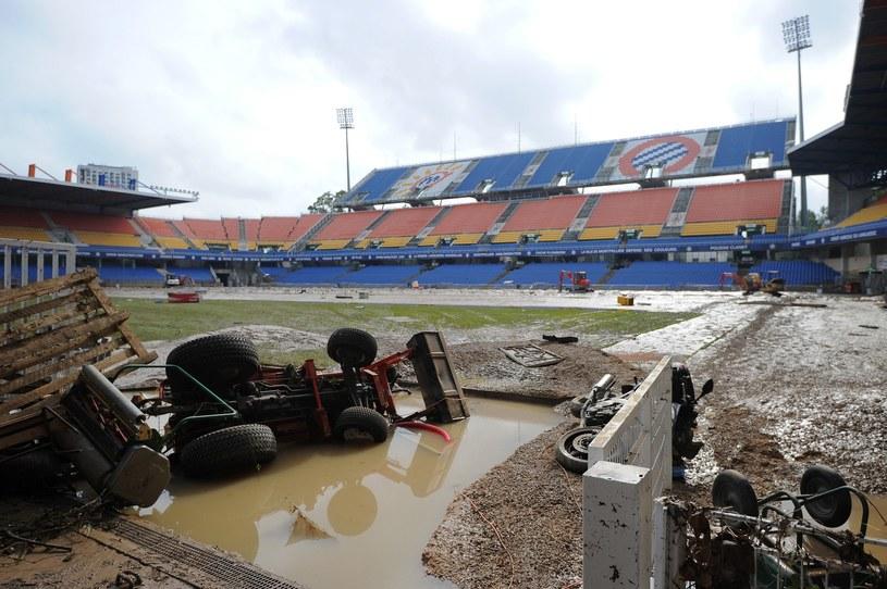 Stadion Montpellier HSC zniszczony przez wodę /AFP