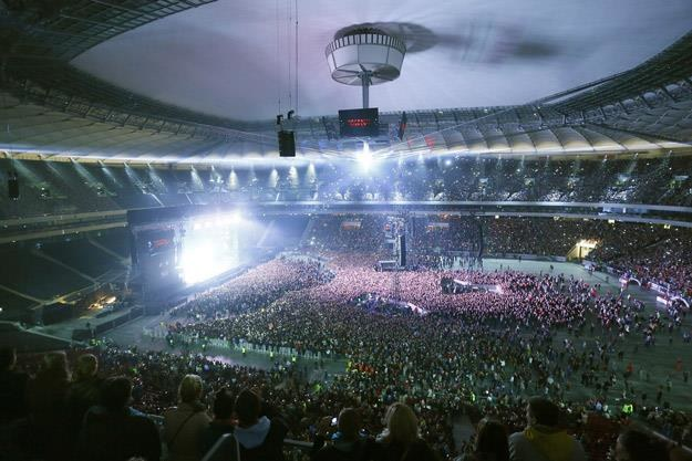 Stadion Narodowy podczas pierwszego dnia Orange Warsaw Festival 2013 /AKPA
