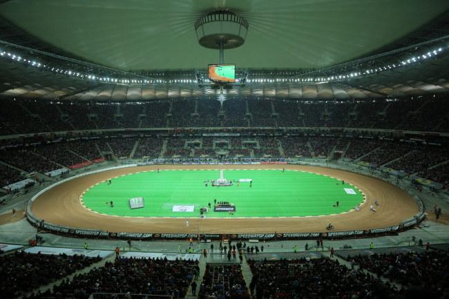 Stadion Narodowy w Warszawie podczas żużlowego Grand Prix Polski /Bartłomiej Zborowski /PAP