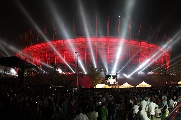 Stadion Narodowy zaprezentował się pierwszy raz w pełnej krasie fot: Bartłomiej Zborowski /PAP
