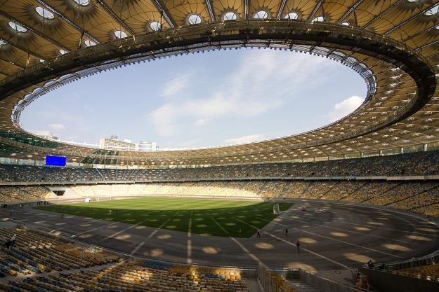 Stadion Olimpijski w Kijowie - główna arena Euro 2012 /AFP