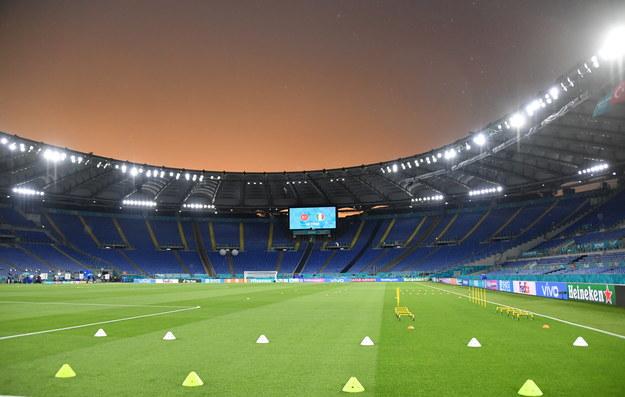 Stadion Olimpijski w Rzymie, na którym w meczu otwarcia Euro 2020 zmierzą się drużyny Włoch i Turcji /ETTORE FERRARI /PAP/EPA