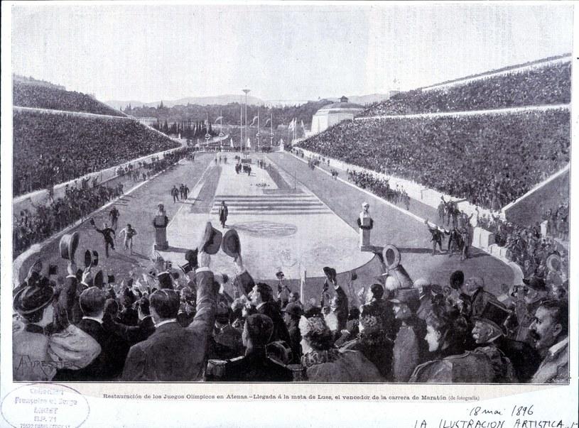 Stadion panatenajski, który odremontowano specjalnie na pierwszą nowożytną olimpiadę /East News