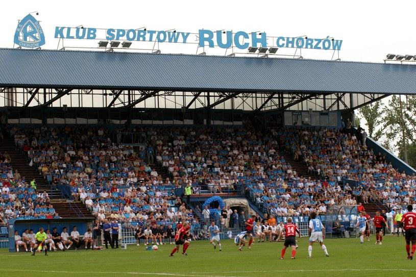 Stadion Ruchu Chorzów podczas meczu /Adrian Ślazok /Reporter