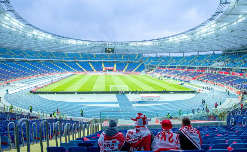 Stadion Śląski tuż przed meczem Polska - Korea Południowa /Andrzej  Grygiel /PAP