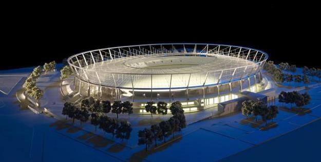 Stadion Śląski - wizualizacja jest piękna, efekt - na razie mizerny /Informacja prasowa