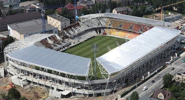 Stadion w Bielsku-Białej w budowie. Fot. Podbeskidzie /