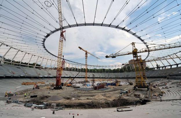 Stadion w Kijowie. /AFP