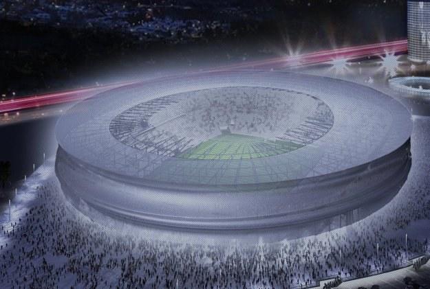 Stadion we Wrocławiu wciąż możemy oglądać tylko na projektach /fot.2012.wroc.pl /