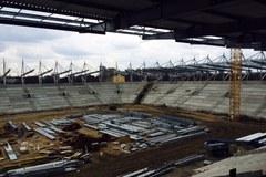 Stadion Widzewa w budowie