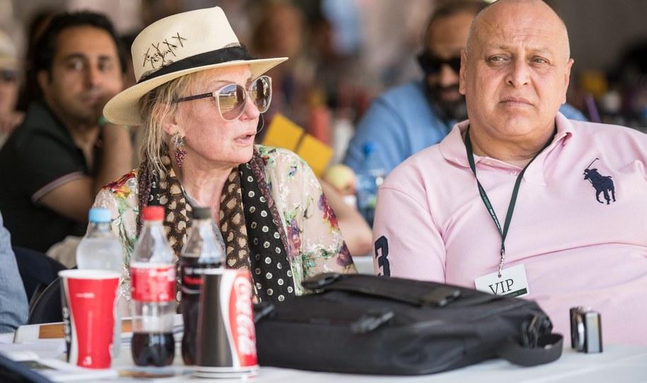 Stały gość Dni Konia Arabskiego, żona perkusisty zespołu The Rolling Stones Charliego Wattsa - Shirley Watts (L) /Tomasz Koryszko /PAP