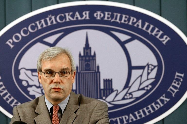 Stały przedstawiciel Rosji przy NATO Aleksander Gruszko /AFP