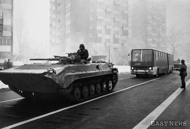 Stan wojenny, grudzień 1981 r., fot. Wojtek Laski /East News