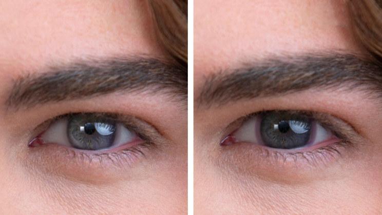 Standardowe soczewki kontaktowe (po lewej) i przyciemniane soczewki kontaktowe (po prawej) /materiały prasowe