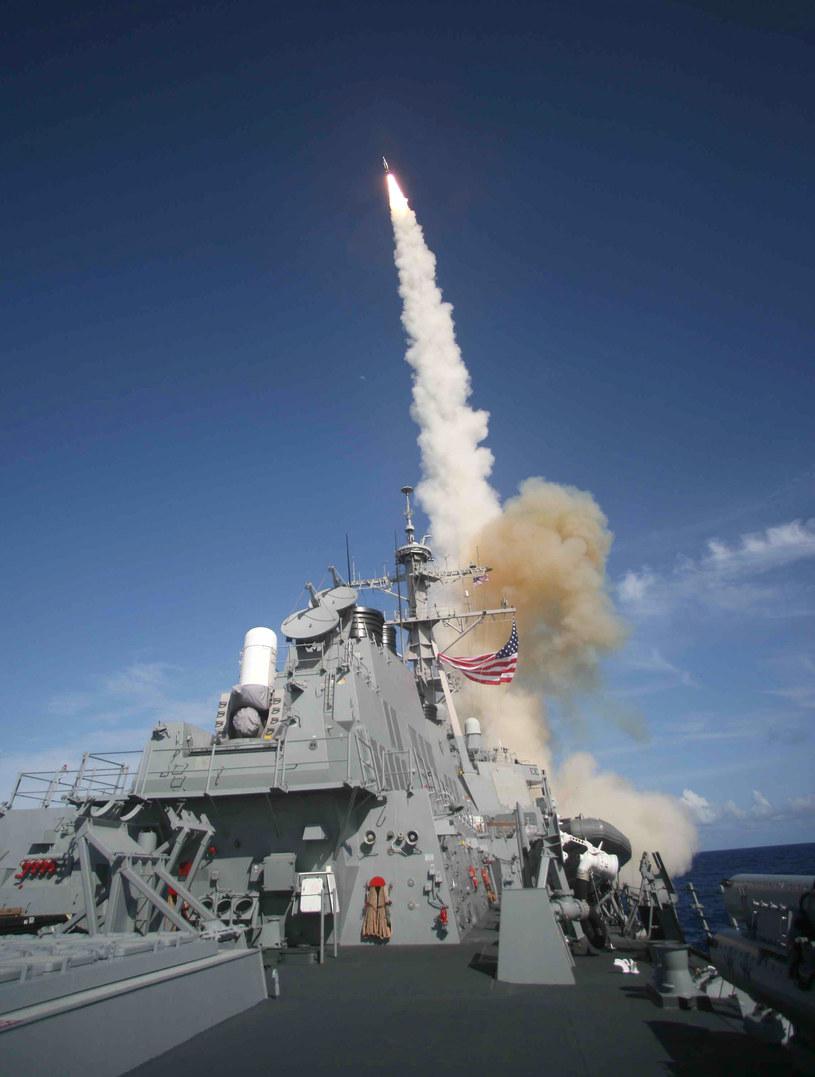 Standardowy pocisk SM3, zdj. ilustracyjne /HO / US NAVY / AFP /AFP