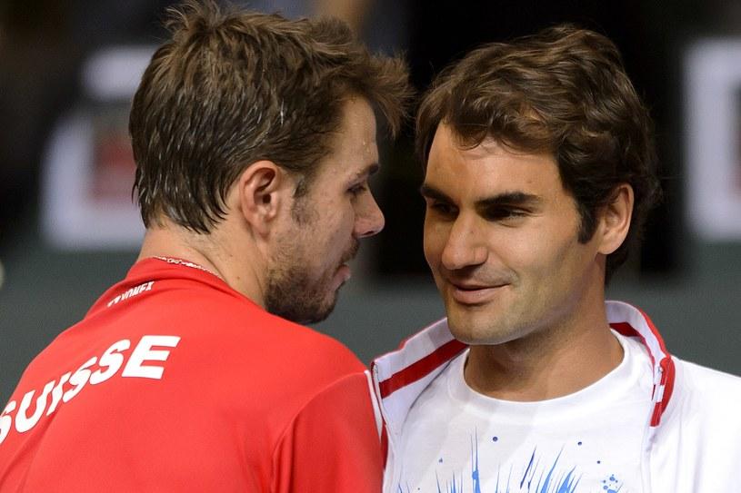 Stanislas Wawrinka i Roger Federer /AFP