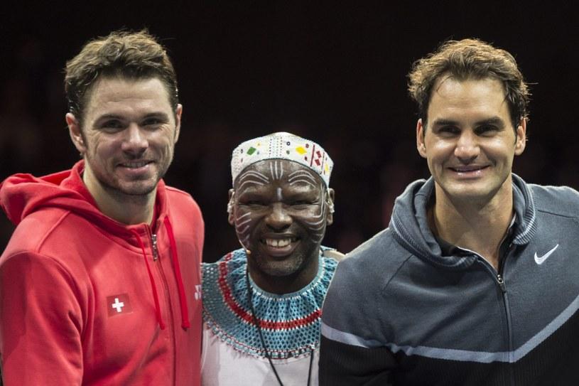 Stanislas Wawrinka i Roger Federer /PAP/EPA