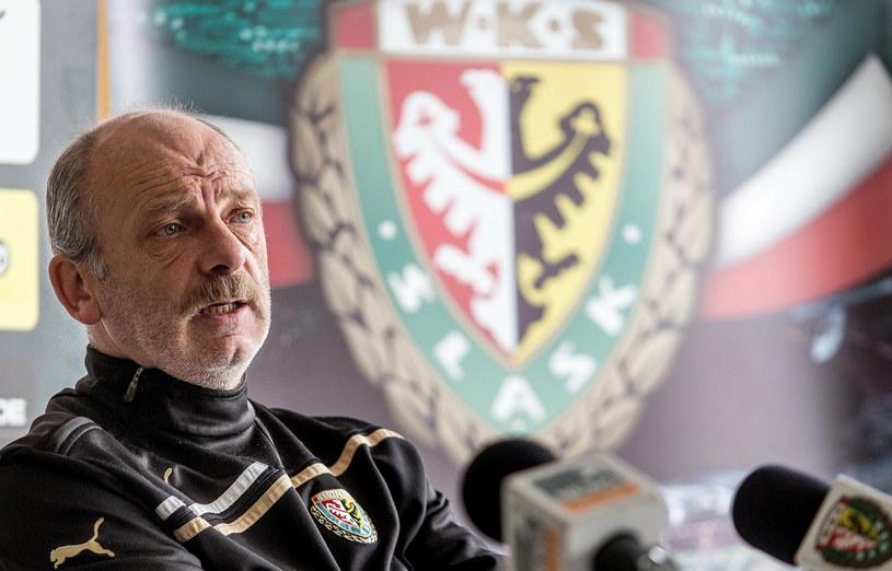 Stanislav Levy, trener piłkarzy Śląska Wrocław /Maciej Kulczyński /PAP