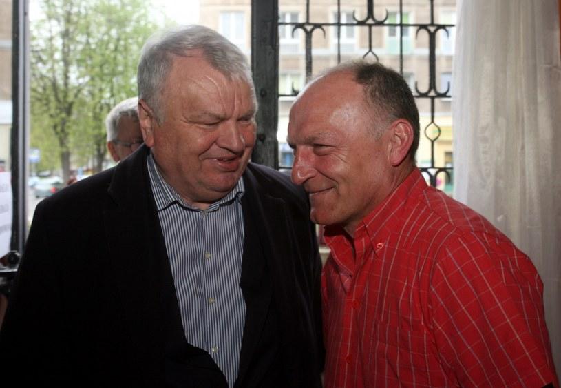 Stanisław Bisztyga i jego przyjaciel Andrzej Iwan ze złotej jedenastki Wisły z 1978 r. /Artur Barbarowski/Agencja SE /East News