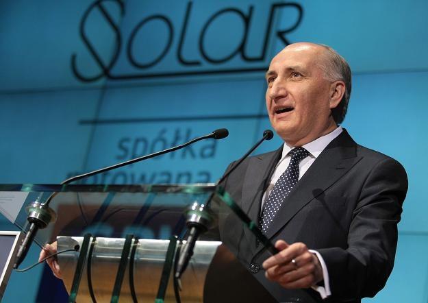 Stanisław Bogacki, prezes Solar Company, w czasie debiutu na GPW /PAP