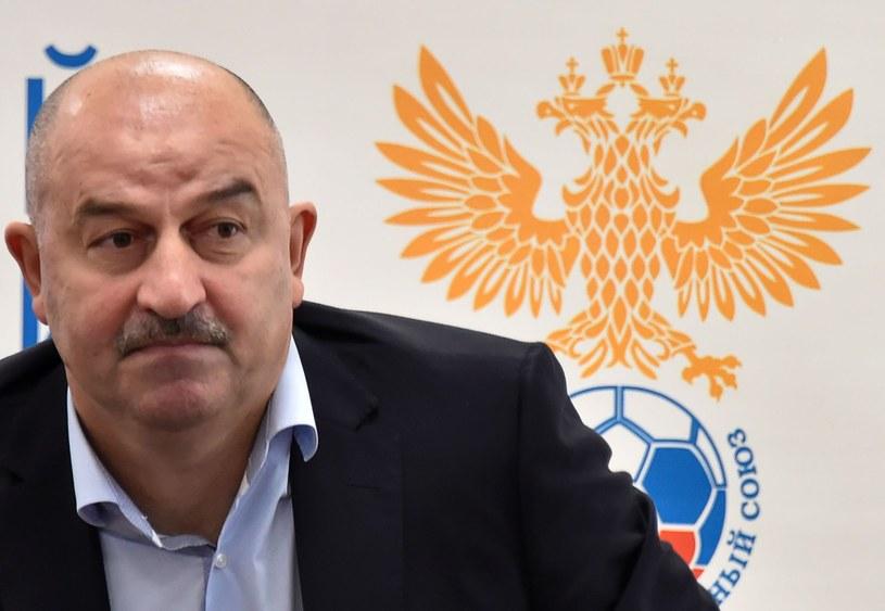 Stanisław Czerczesow podczas konferencji prasowej w siedzibie rosyjskiej federacji /AFP