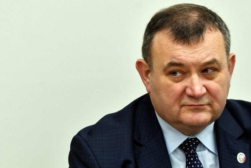 Stanisław Gawłowski podczas rozprawy przed Sądem Okręgowym w Szczecinie / Marcin Bielecki    /PAP