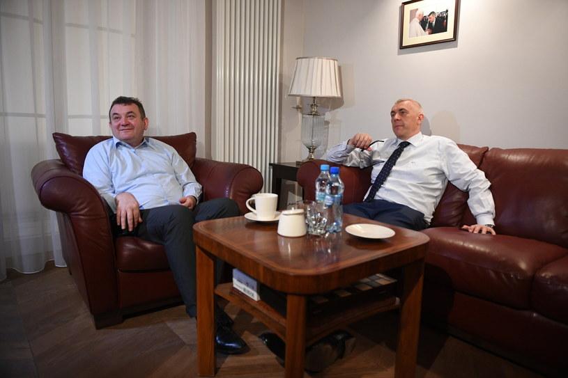 Stanisław Gawłowski w kancelarii Romana Giertycha /Radek Pietruszka /PAP