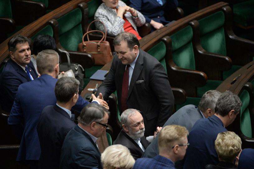 Stanisław Gawłowski w Sejmie / Marcin Obara  /PAP
