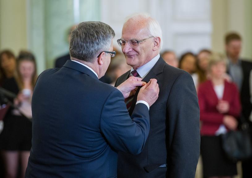 Stanisław Janicki z b. prezydentem Komorowskim / Jacek Domiński /Reporter