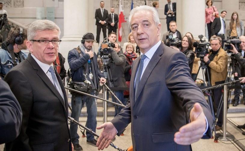 Stanisław Karczewski i Stanisław Tillich /PAP/EPA