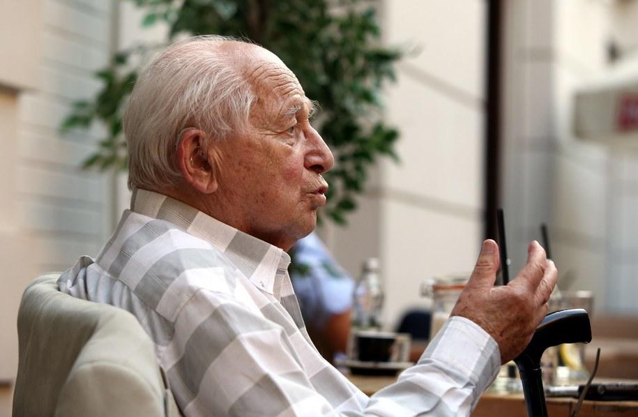 Stanisław Likiernik, jeden z ostatnich żyjących uczestników tragedii sprzed 70 lat. /Tomasz Gzell /PAP
