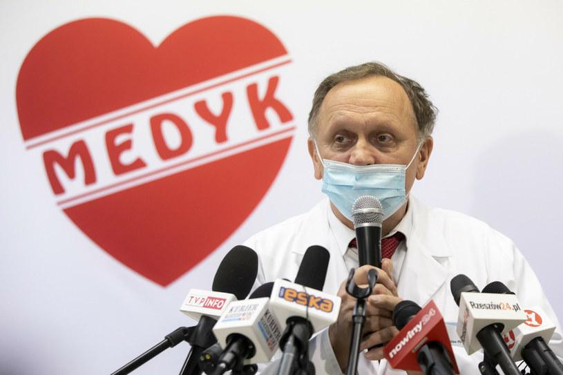 Stanisław Mazur, prezes centrum medycznego w Rzeszowie i organizator szczepień na Podkarpaciu /Grzegorz Bukala /Reporter