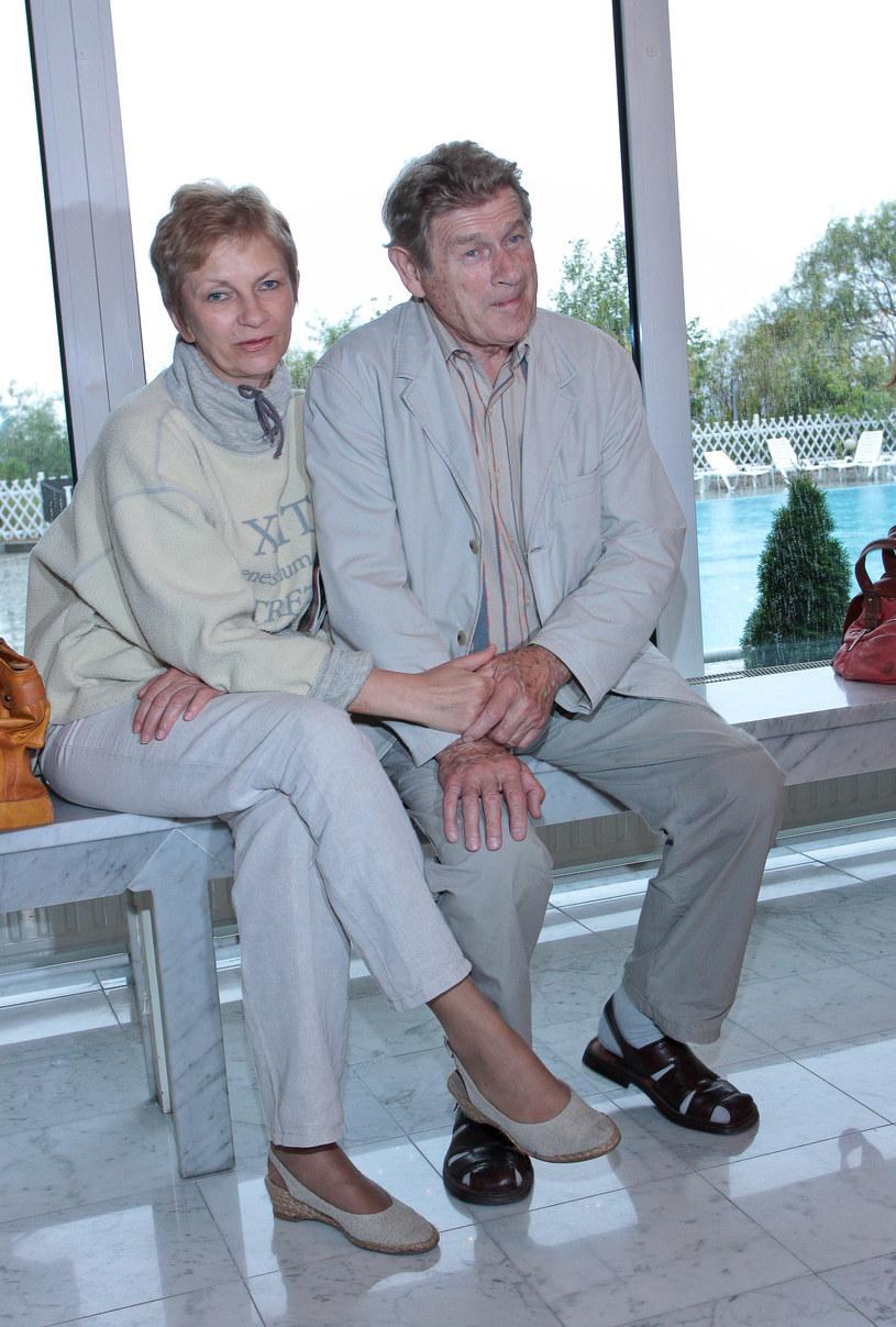 Stanisław Mikulski z trzecią żoną Małgorzatą /MWMedia
