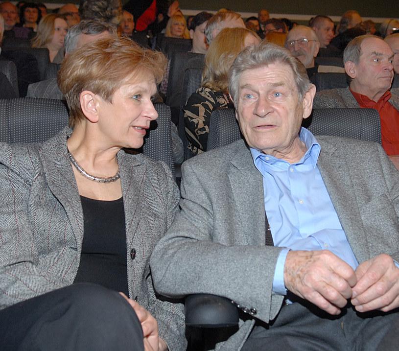 Stanisław Mikulski z żoną Małgorzatą /Marek Ulatowski /MWMedia