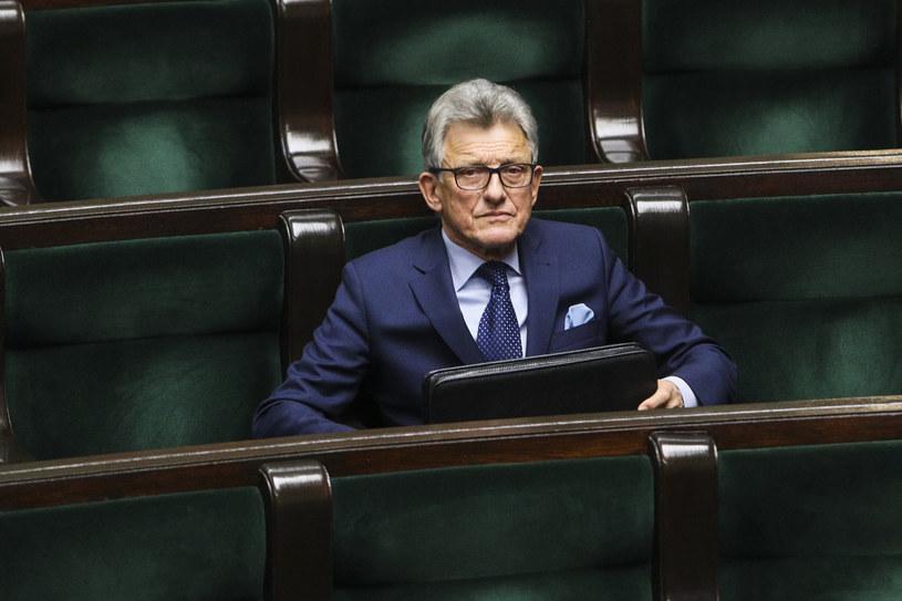 Stanisław Piotrowicz w Sejmie /Andrzej Hulimka  /Agencja FORUM
