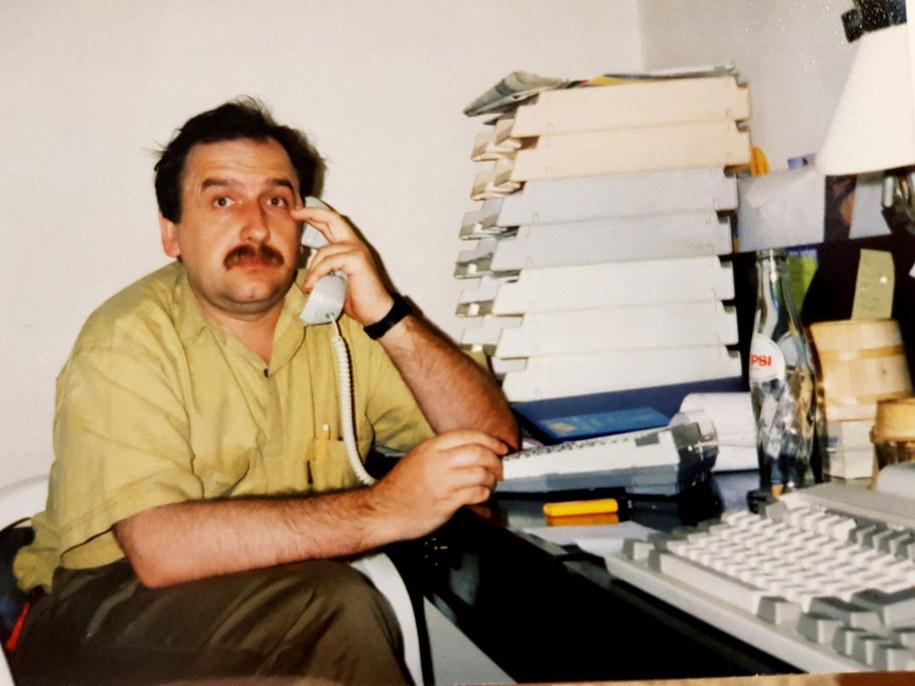 Stanisław Smółka w biurze RMF FM /archiwum /RMF FM
