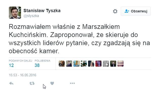 Stanisław Tyszka na Twitterze /Twitter