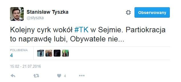 Stanisław Tyszka o nocnej debacie /Twitter
