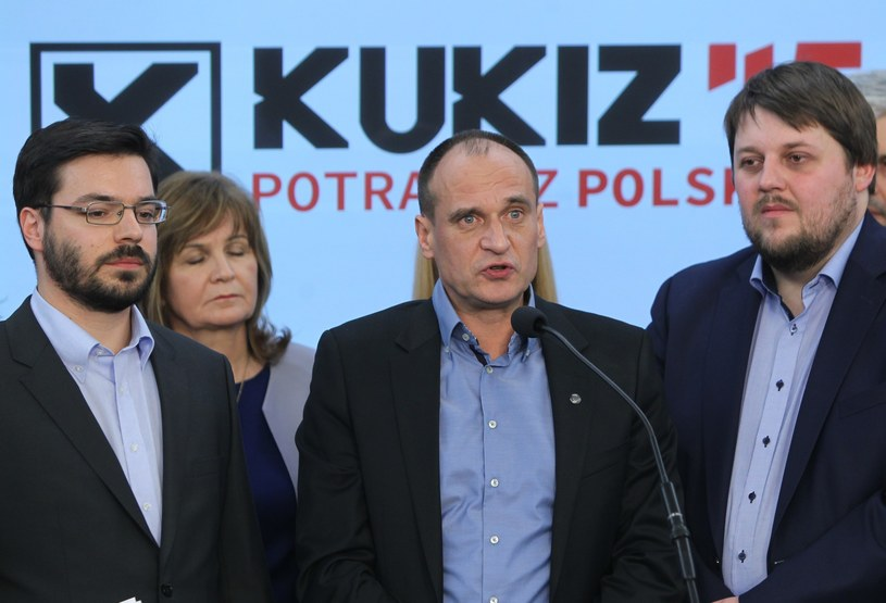 Stanisław Tyszka, Paweł Kukiz i Piotr Apel /Fot. Stanislaw Kowalczuk /East News