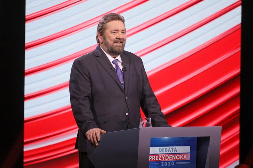 Stanisław Żółtek podczas debaty kandydatów na prezydenta RP w Telewizji Polskiej w Warszawie /Paweł Supernak /PAP