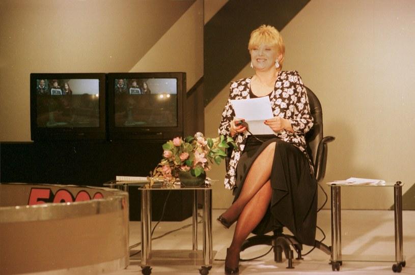 """Stanisława Ryster w latach 1975–2006 prowadziła teleturniej """"Wielka gra"""" /WOJCICECH RZAZEWSKI /East News"""